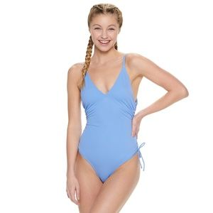Blue XS one piece swimsuit